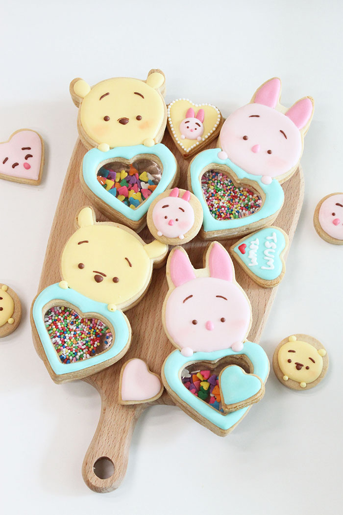 Sugar Glass Cookies_PoohPiglet_scaled